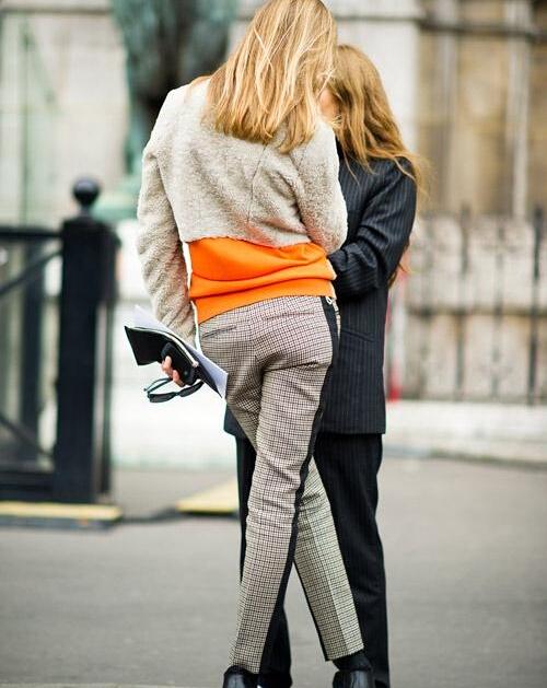 紧身裤与西装裤比美