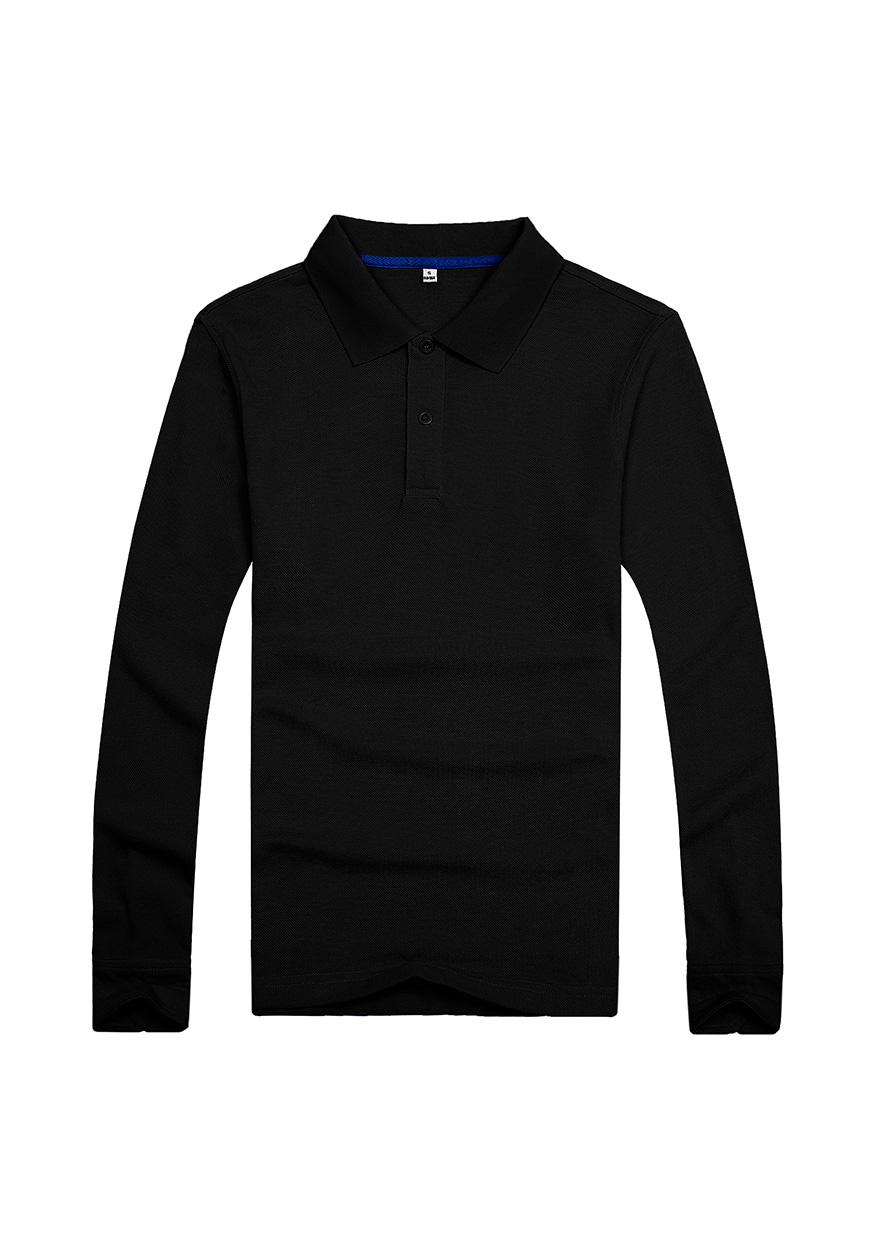 黑色长袖文化衫