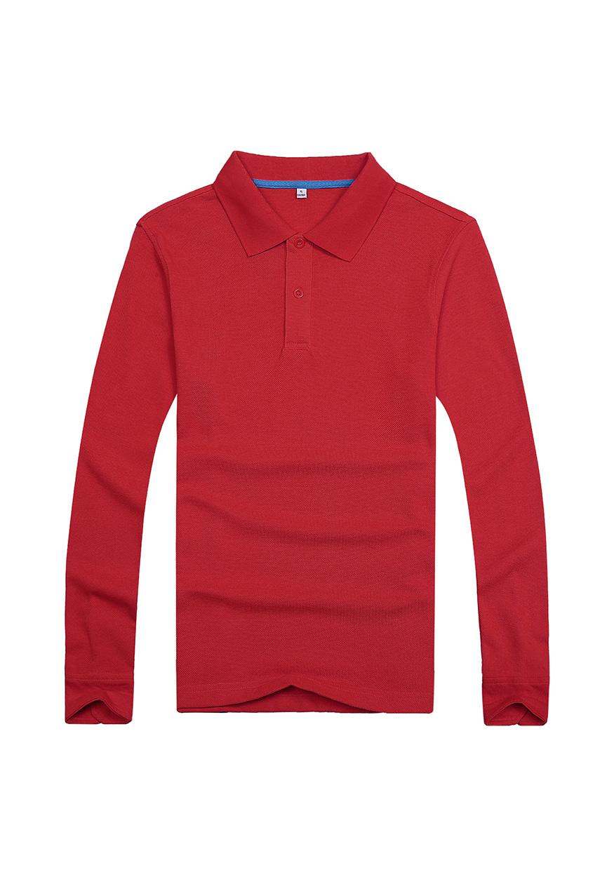 红色长袖文化衫