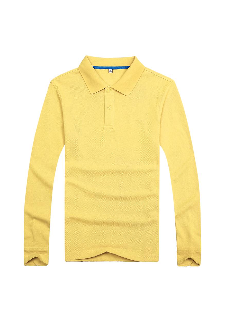 黄色长袖文化衫