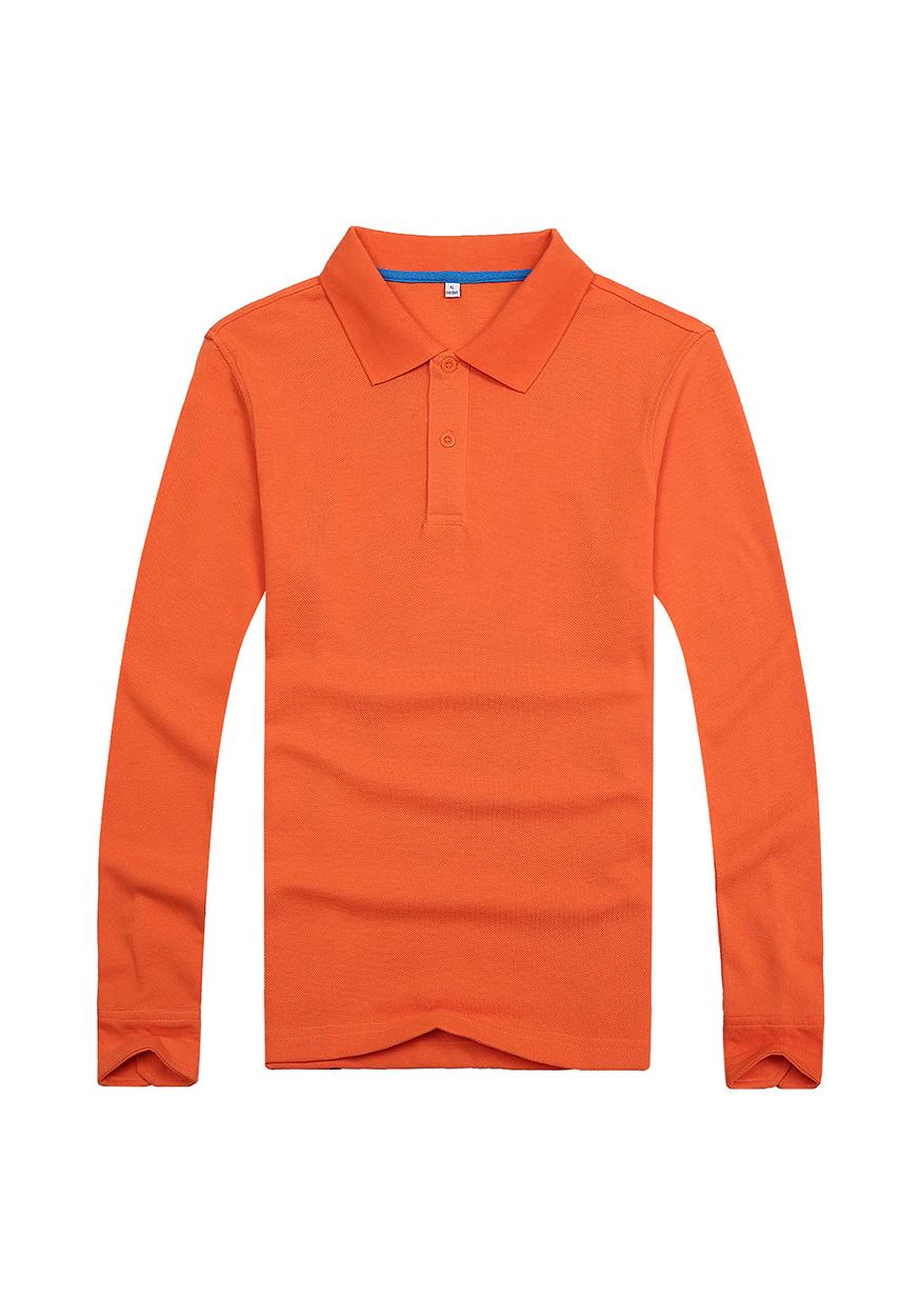 橙色长袖文化衫