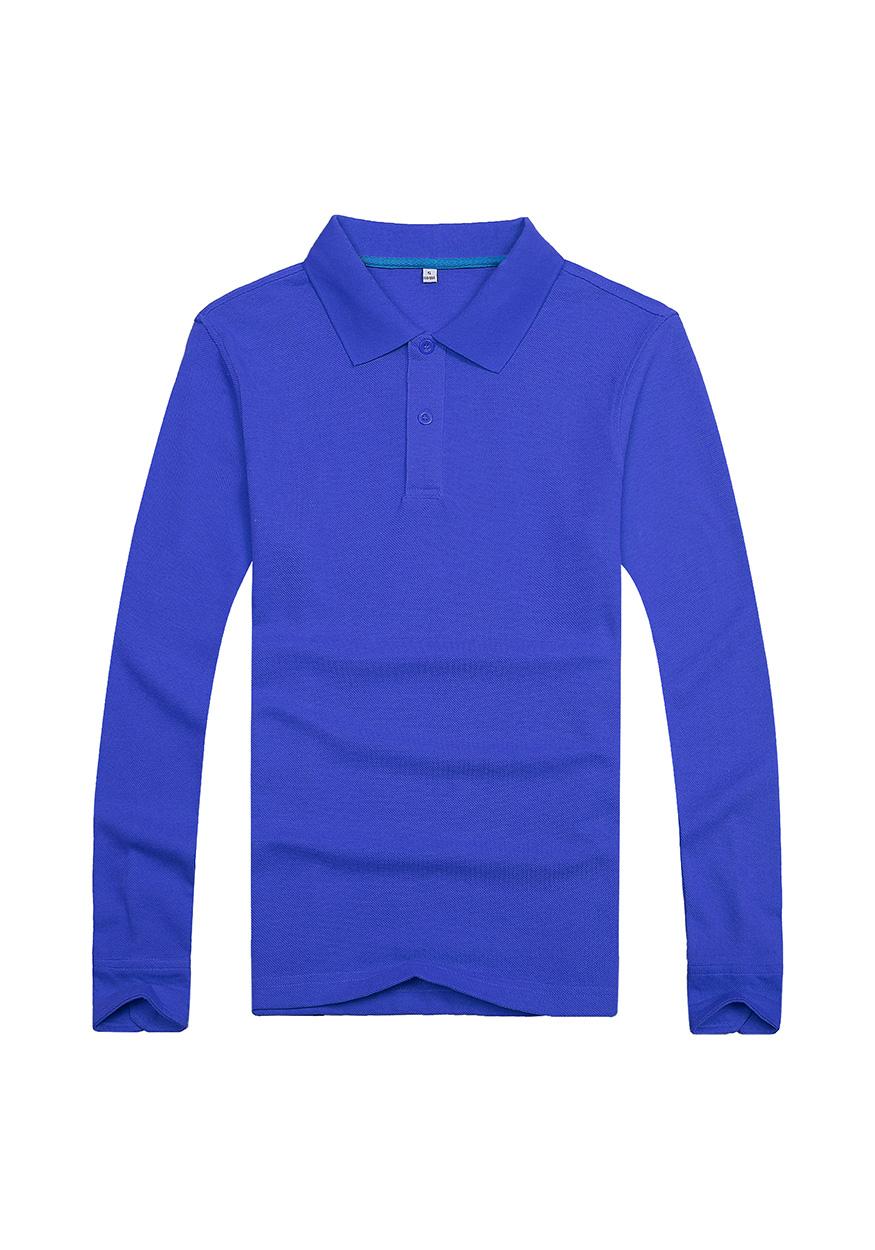 蓝色长袖文化衫