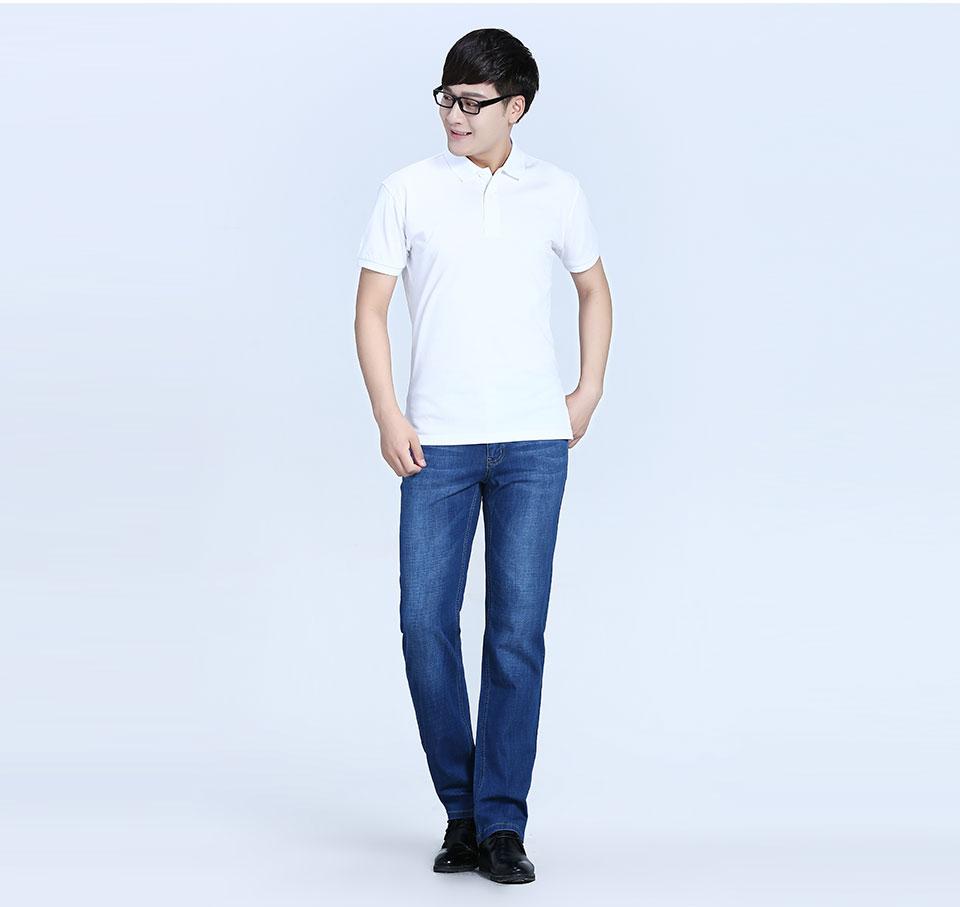 白色反面双纱POLO衫T恤