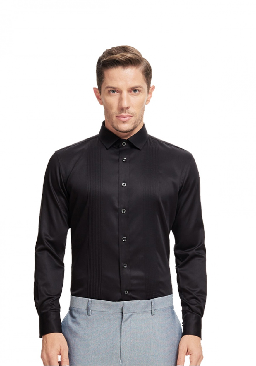 黑色职业衬衫男