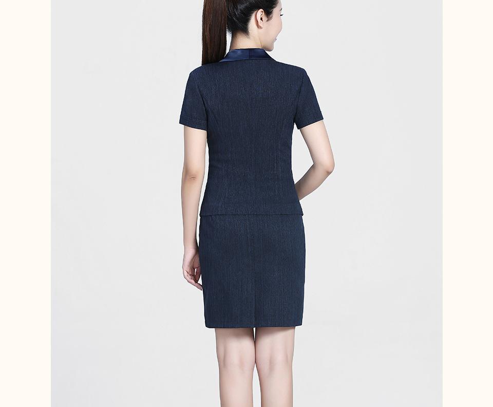 新款深蓝西裙女裙