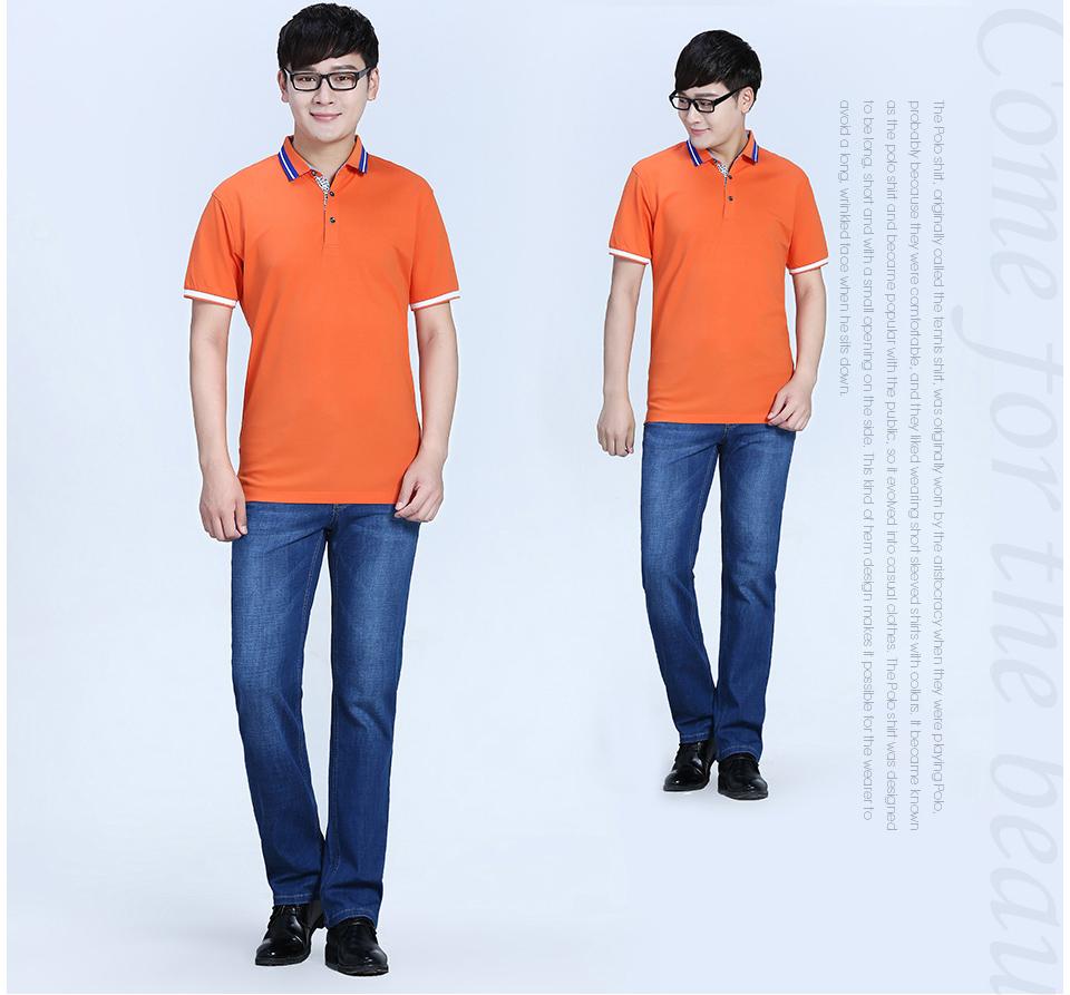 新款Polo衫纤维丝光短袖T恤